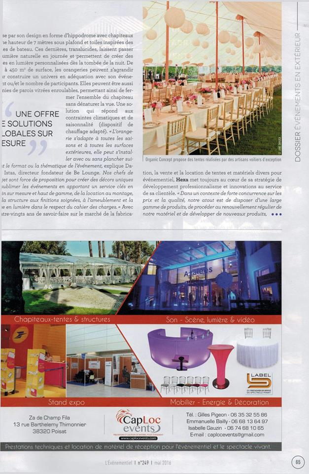 Presse Cap Loc Events